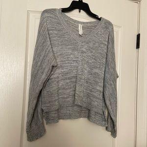 Slouchy gray v-neck sweater (Aeropostale)